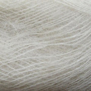 Isager Silk Mohair color 0 white, 70% Super Kid Mohair and 30% Silk