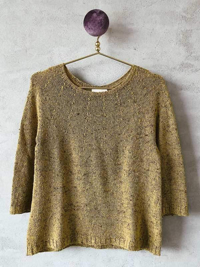 Silk sweater, light summer knit, yellow - Önling Nordic knitting patterns and yarn
