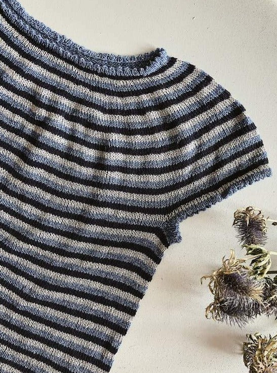 Striped summer top, No 12 knitting kit
