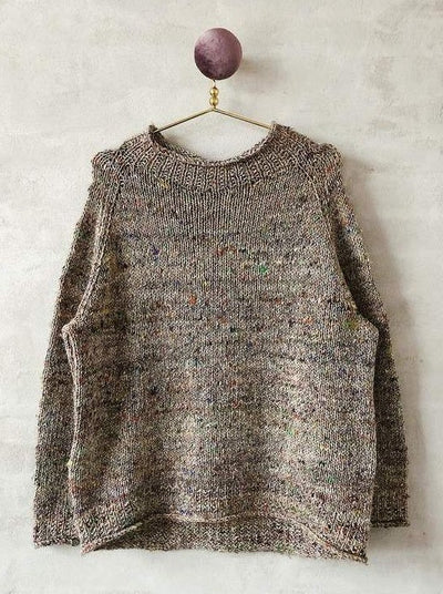 Sweater with speck knit in luxurious Önling yarn - Önling Nordic knitting patterns and yarn