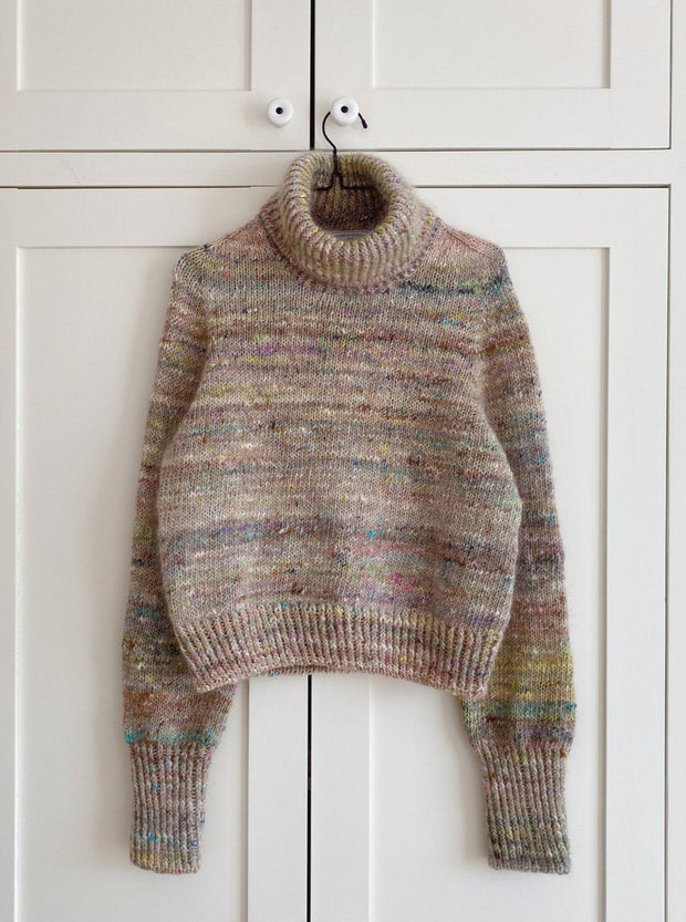 Terrazzo Sweater from PetiteKnit, knitting kit in   No 1 + silk mohair