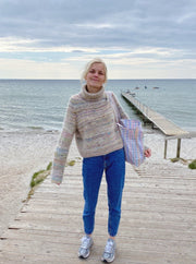 Terrazzo Sweater from PetiteKnit, in   No 2 + silk mohair knitting kit