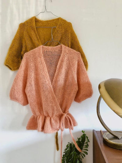 Knitting pattern for Wrap Me Up cardigan by Plummum.
