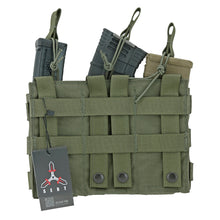 Load image into Gallery viewer, Modular (MOLLE) Rifle Magazine Pouch, TRIPLE, Open Top (Shingle), (AR - M4 - AK47 - G36 - M14 - SMG)