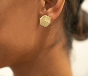 3D Sterling Silver and Gold Plated Pin/Pendant and Stud Earrings