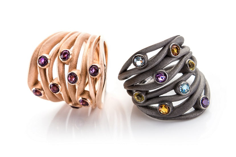 Sterling Silver Rings with Color Stones