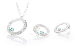 Sterling Silver and Blue Topaz Set