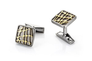 Sterling Silver Two Toned Cufflinks