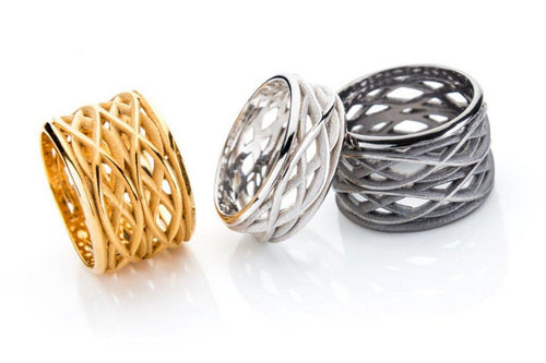 Rings - gold plated, sterling silver, oxidized sterling silver