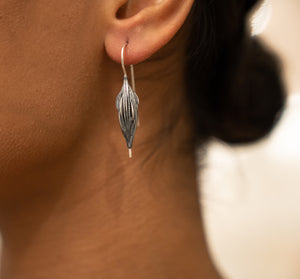 Sterling Silver Oxidized Earrings