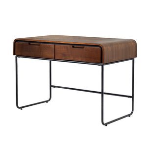 PC204 - Manhattan 2 Drawer Desk Walnut - PRE ORDER FOR MARCH DELIVERY