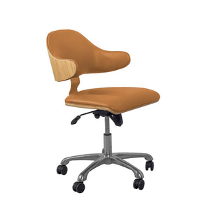 PC210 Swivel Office Chair Oak/Tan - PRE ORDER FOR MARCH DELIVERY