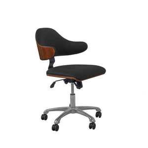 PC210 Swivel Office Chair Walnut/Black - PRE ORDER FOR MARCH DELIVERY