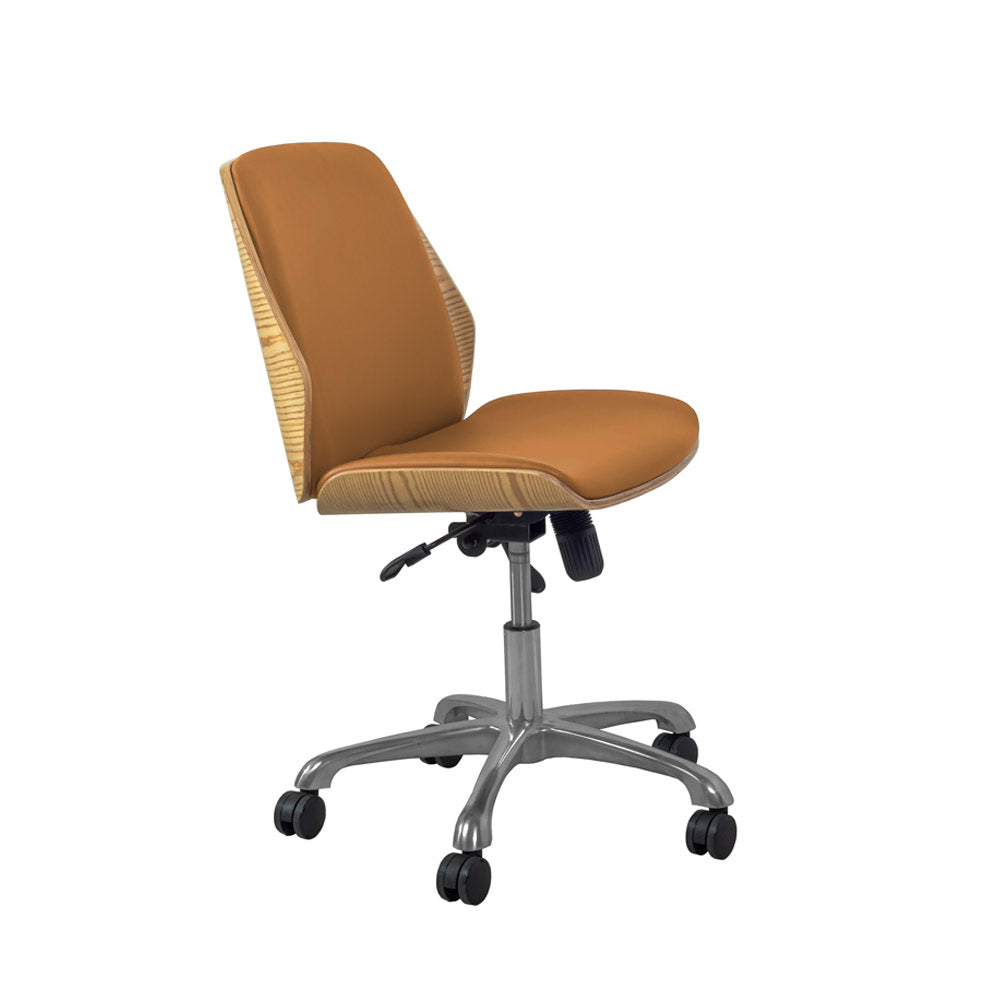 PC211 Universal Office Chair Oak/Tan - PRE ORDER FOR MARCH DELIVERY