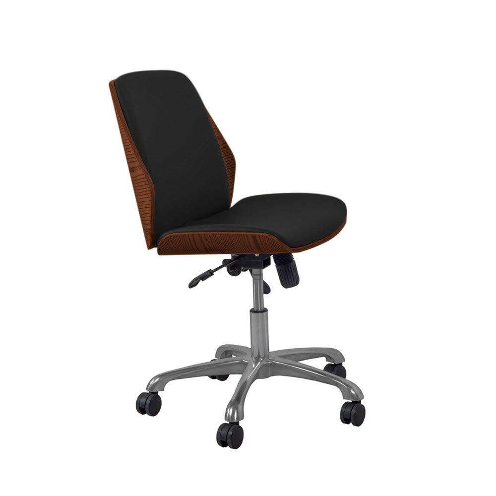 PC211 Universal Office Chair Walnut/Black - PRE ORDER FOR DELIVERY W/C 4/1/21