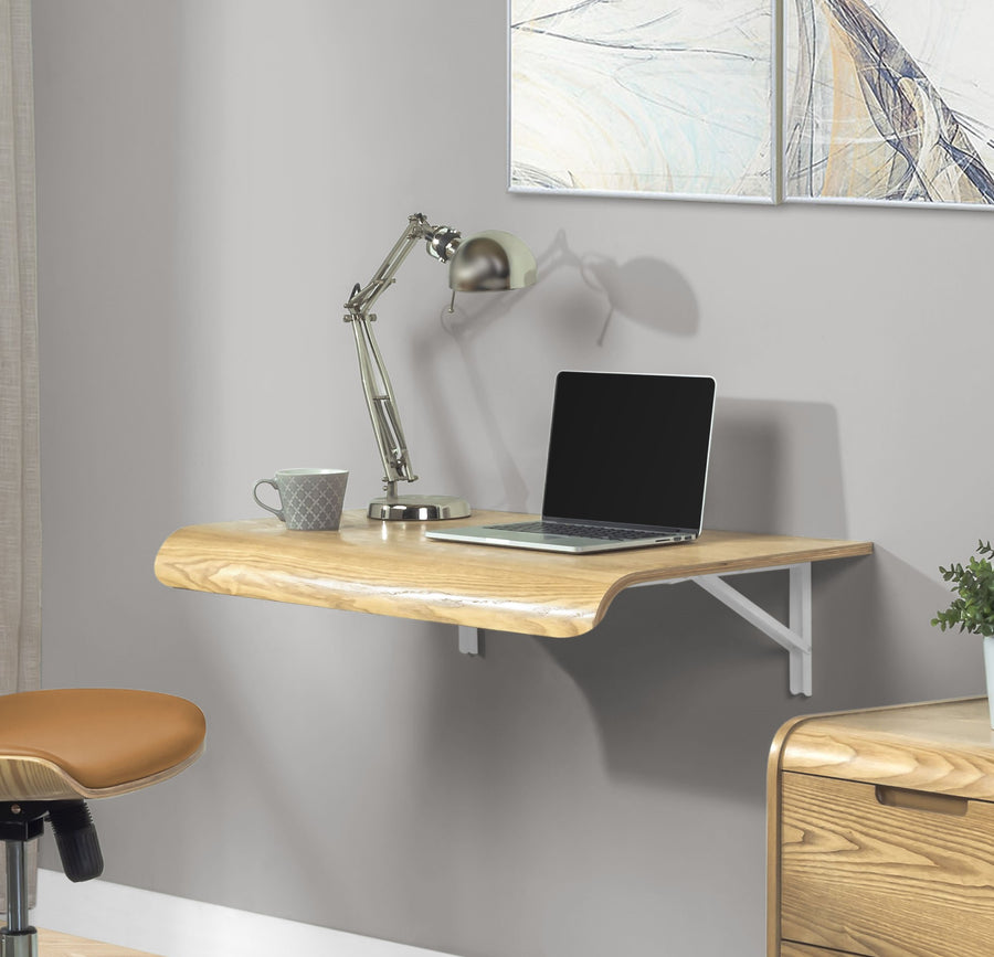 PC206 - Wall Mounted Drop Desk Oak
