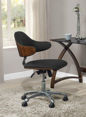 PC210 Swivel Office Chair Walnut/Black