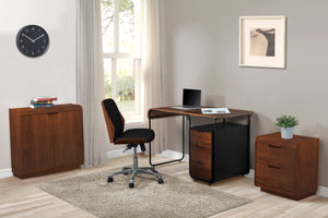 PC209 - Universal Pedestal Walnut - PRE ORDER FOR APRIL DELIVERY