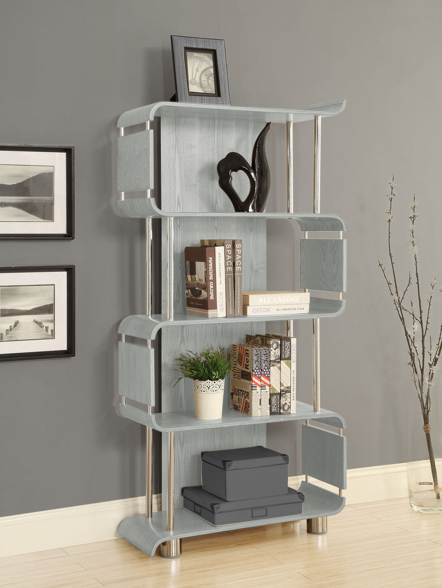 BS201 Helsinki Bookshelf (Grey) - PRE ORDER FOR FEBRUARY DELIVERY