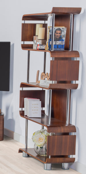 BS201 Helsinki Bookshelf Walnut - PRE ORDER FOR DELIVERY W/C 26/10/20