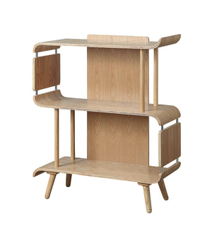PC611 San Francisco Short Oak Book Case - PRE ORDER FOR DELIVERY W/C 22/6/2020)