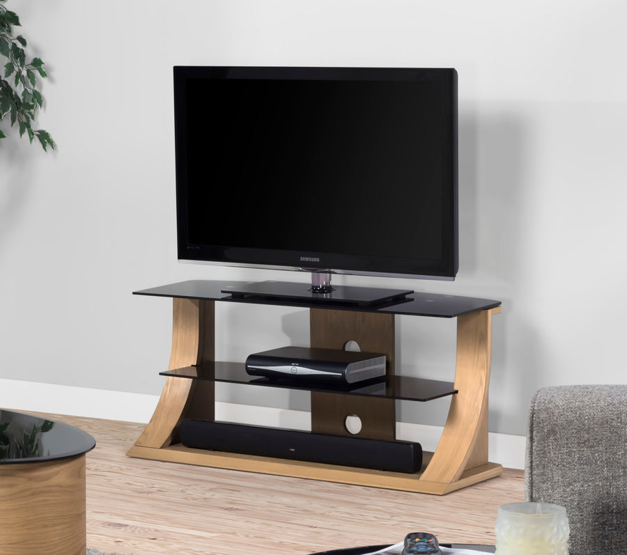 JF201 Florence TV Stand 1100mm (Oak) - PRE ORDER FOR DELIVERY W/C 07/12/20