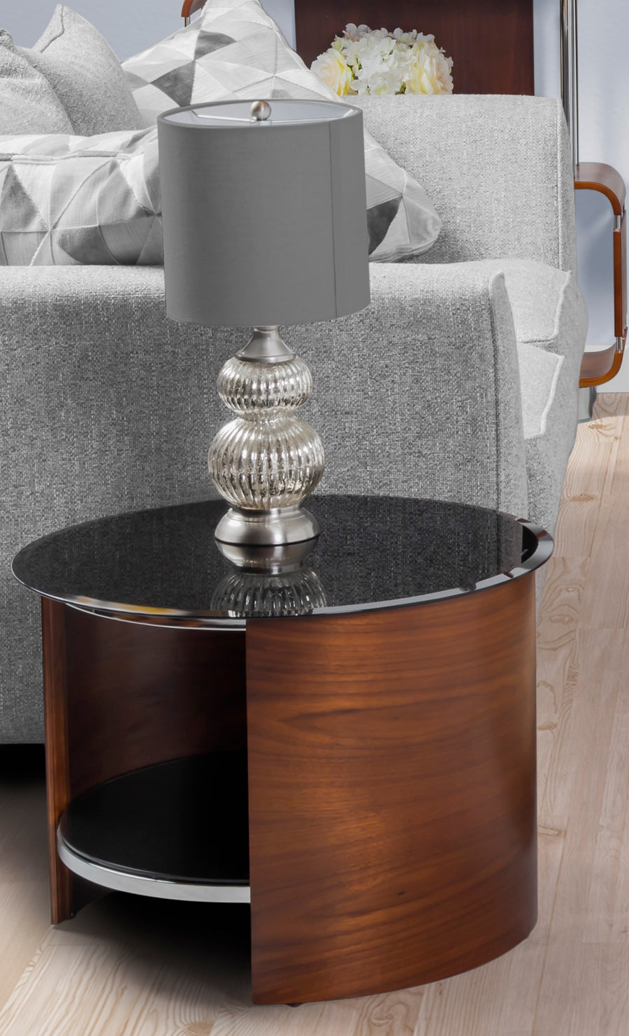 Jual JF303 Lamp Table Walnut