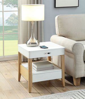 JF401 San Francisco Smart Charging Bedside/Lamp Table