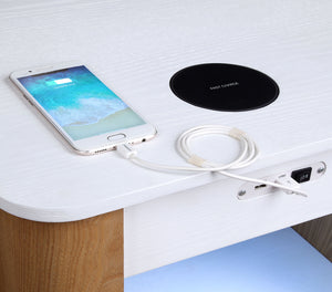 JF404 San Francisco Speaker/Charging Bedside/Lamp Table with Light