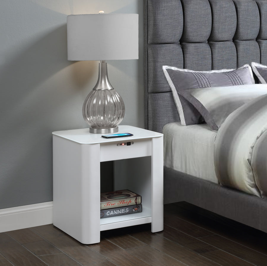 JF405 San Francisco Smart Bedside/Lamp Table