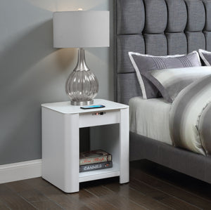 JF406 San Francisco Speaker Smart Bedside/Lamp Table