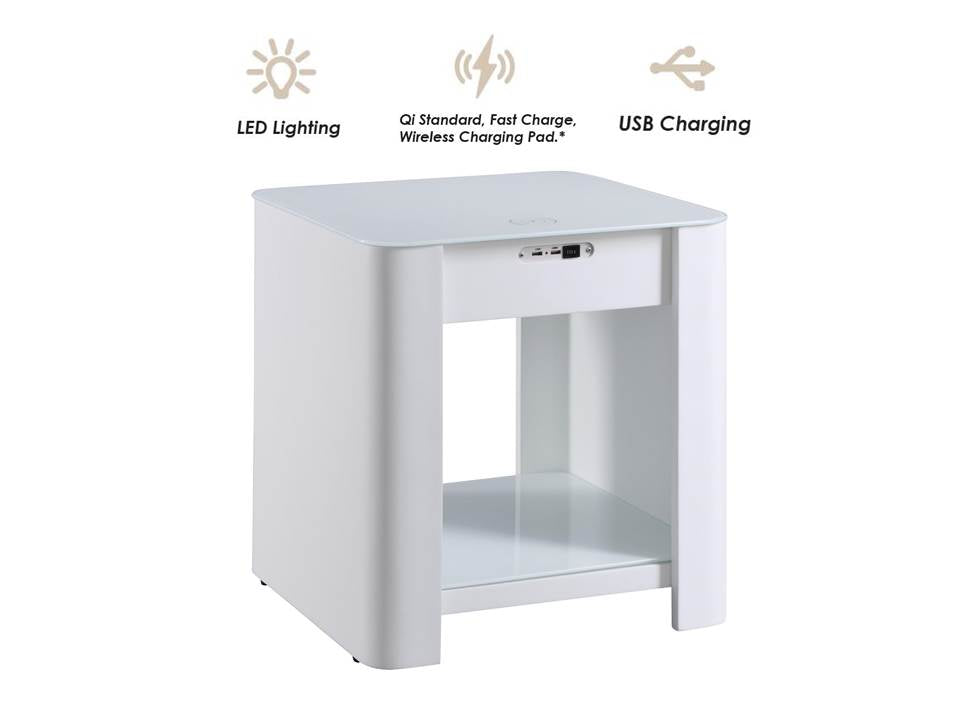 JF405 San Francisco Smart Bedside/Lamp Table - PRE ORDER FOR DELIVERY W/C 16/12/19
