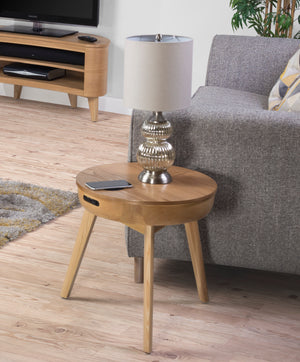 JF710 - San Francisco Speaker/Charging Lamp Table Oak