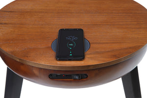 JF710 - San Francisco Speaker/Charging Lamp Table Walnut