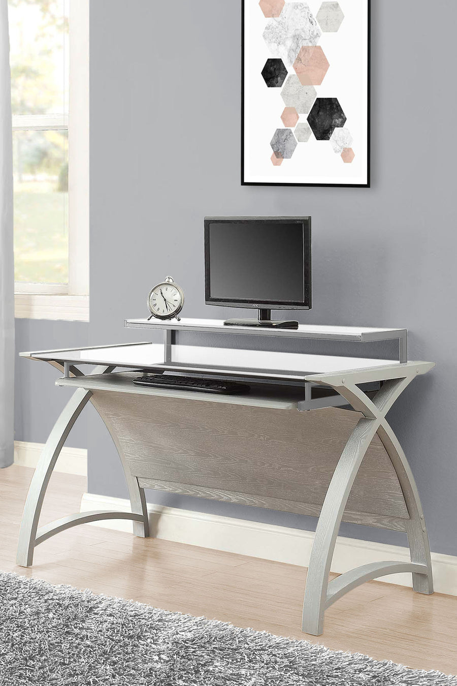 PC201 Helsinki 1300 Desk (Grey) - PRE-ORDER FOR DELIVERY W/C 7/9/2020