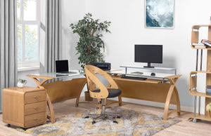 PC201 Helsinki 1300 Desk (Oak) - PRE ORDER FOR DELIVERY END OF JUNE