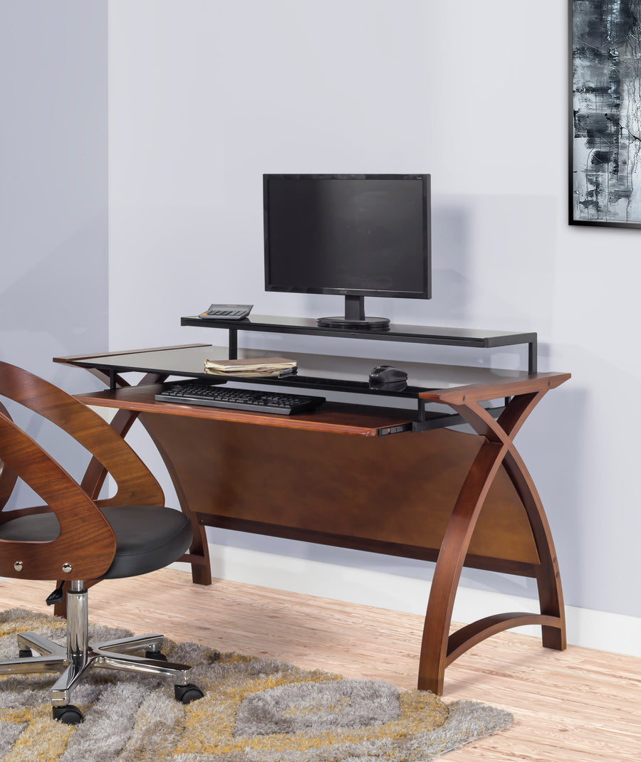 PC201 Helsinki 1300 Desk (Walnut) - PRE ORDER FOR FEBRUARY DELIVERY