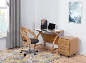 PC606 Helsinki Office Chair (Oak) - PRE ORDER FOR DELIVERY IN JUNE