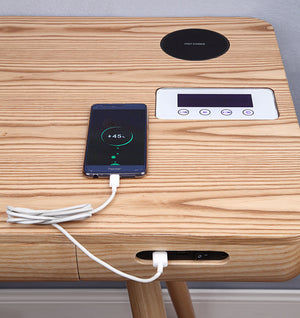 PC709- San Francisco Smart Speaker/Charging Desk Oak - PRE ORDER FOR MARCH DELIVERY