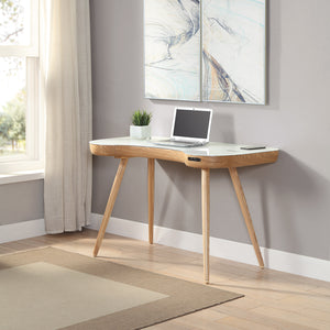 PC711- San Francisco Smart Speaker/Charging Desk Oak