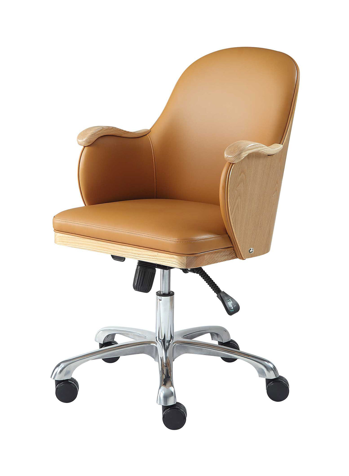 PC712 - San Francisco Executive Office Chair Oak - PRE ORDER FOR DELIVERY W/C 17/08/20