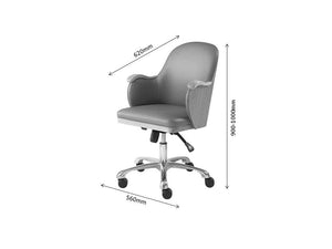 PC712 - San Francisco Executive Office Chair ASH-PRE ORDER FOR DELIVERY W/C 23/09/19