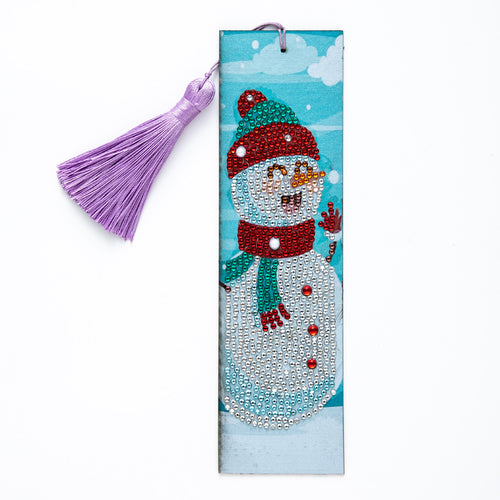 Snowman Diamond Painting Bookmark