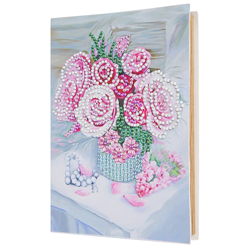 Pink Roses Diamond Painting Album Cover