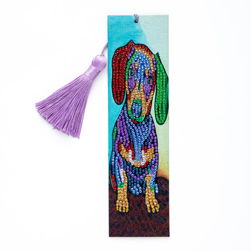 Colourful Dog Diamond Art Bookmark