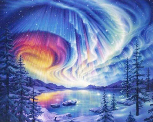 Aurora Borealis Paint by Diamonds