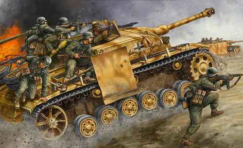 Army Soldiers and tanks war painting