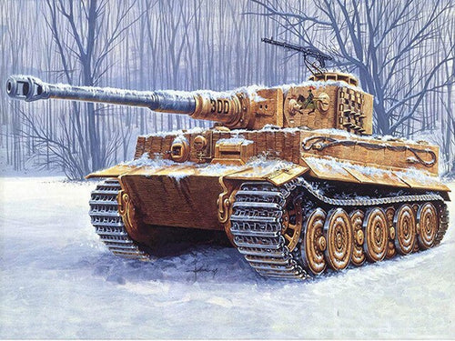 Army Tank In Snow