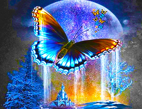 Butterfly Moon Castle - Paint with Diamonds