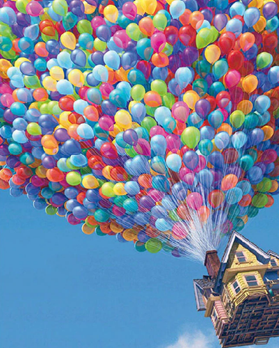 Colourful Balloon House - 5D Diamond Art Painting